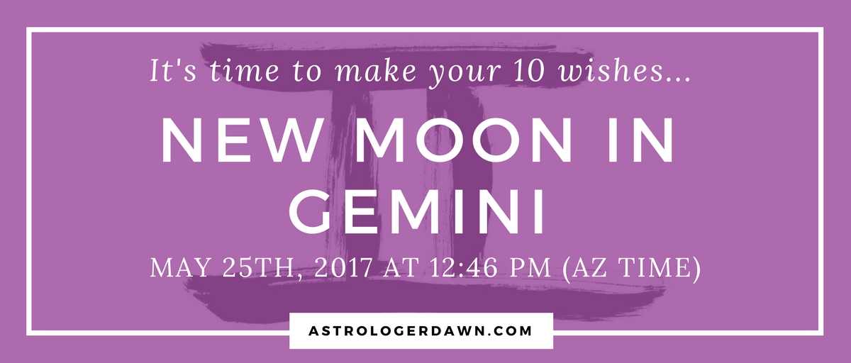 New Moon Wishes in Gemini | Astrologer Dawn