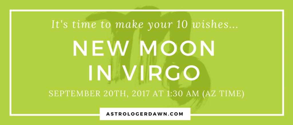 New Moon WIshes in VIRGO | Astrologer Dawn