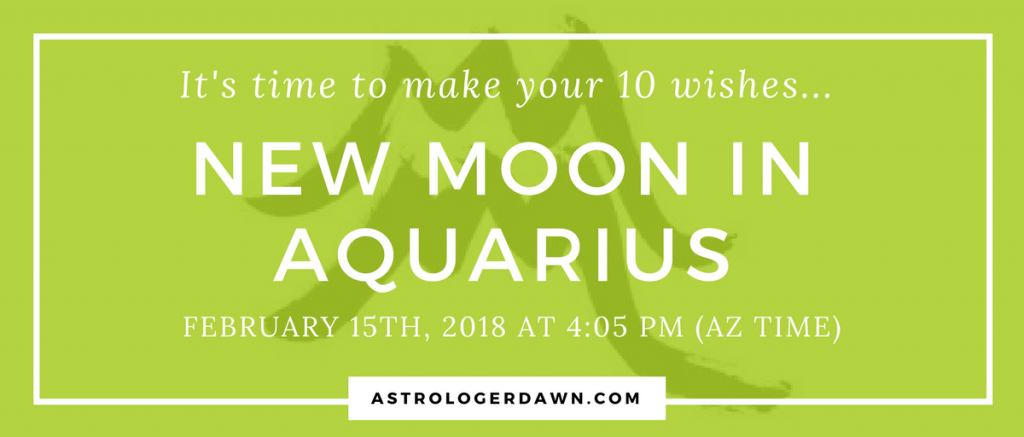 New Moon Wishes in Aquarius | Astrologer Dawn